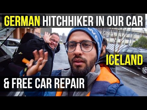 Meeting A DESI GERMAN & FREE RENTAL CAR REPAIR - Indian In Iceland - Travel Vlog 7
