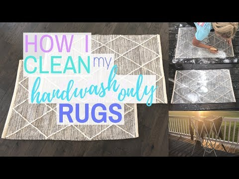 How to Clean Hand Wash Only Rugs | Rug Cleaning | Clean With Me | Cleaning Motivation