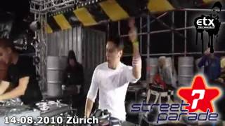 Max B. Grant (CH) LIVE Hardstyle Music 2010 @ Zurich STREET PARADE 7 & ENERGY 10 THE FINAL & OXA ETX