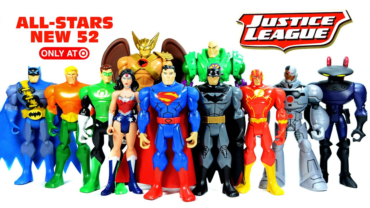 Best Justice League Toys And Action Figures For Kids : Justice league all stars hawkman lex luthor unboxing