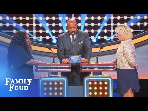 Amber Riley & Tori Spelling Face Off!  Celebrity Family Feud