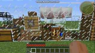 Полностью автоматизированный завод хлеба в minecraft.