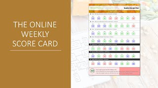The Online Weekly Scorecard - Healthy Lifestyle Plan