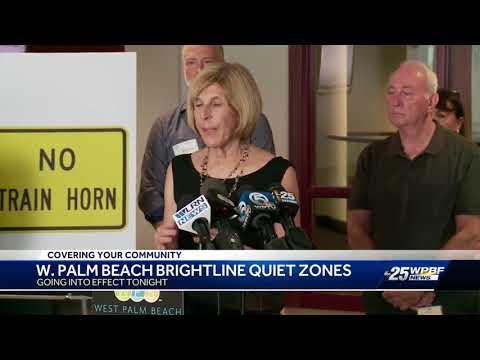 West Palm Beach Brightline Quiet Zones