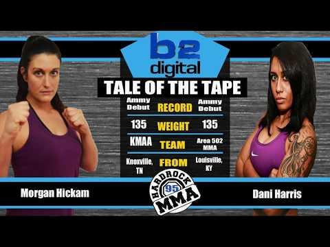 Hardrock MMA 95 Fight 8 Morgan Hickam Vs Dani Harris 135 Ammy Female