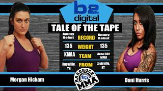 Hardrock MMA 95 Fight 8 Morgan Hickam vs Dani Harris 135 Ammy Female