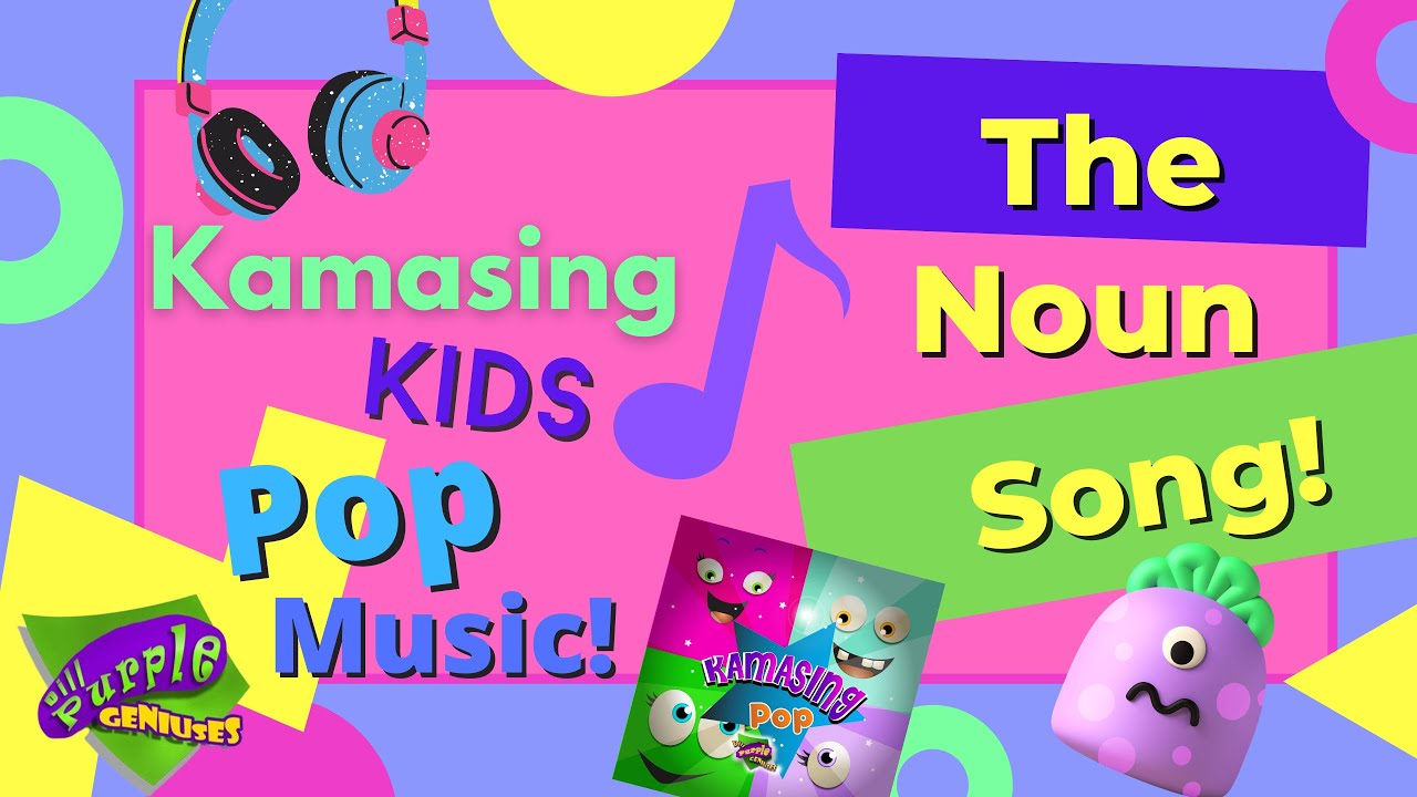 Karaoke Sing Along Noun Song| Kids Pop and Learning Music by Dill Purple Geniuses