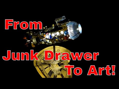Use Your Junk Drawer Items for Assemblage Art !