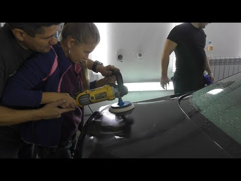 Как правильно полировать машину полировочной машинкой видео