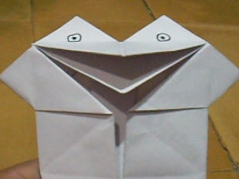 Origami Paper Frog Puppet Moving Mouth Youtube