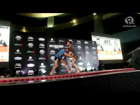 UFC Fight Night Manila media workout highlights 1