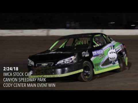 IMCA Stock Car Main Event 2/24/18 Canyon Speedway Park