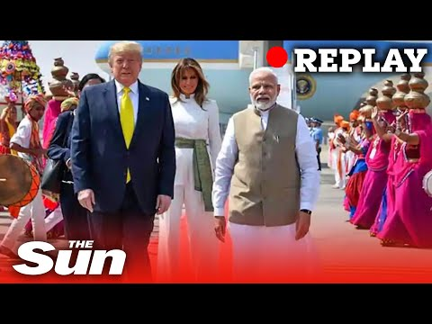 US President Donald Trump arrives in India on two day visit