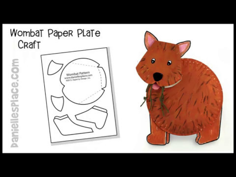 Wombat Paper Plate Craft For Children Youtube