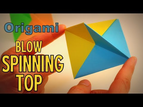 Origami - How to make a Blow SPINNING TOP