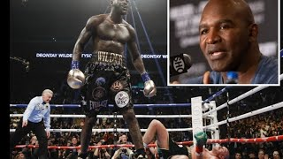 DEONTAY WILDER WAS ABSOLUTELY ROBBED IN 1ST FURY FIGHT, WONT HAPPEN IN REMATCH SAY EVANDER HOLYFIELD
