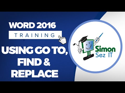 How to Use Go To, Find and Replace in Microsoft Word 2016