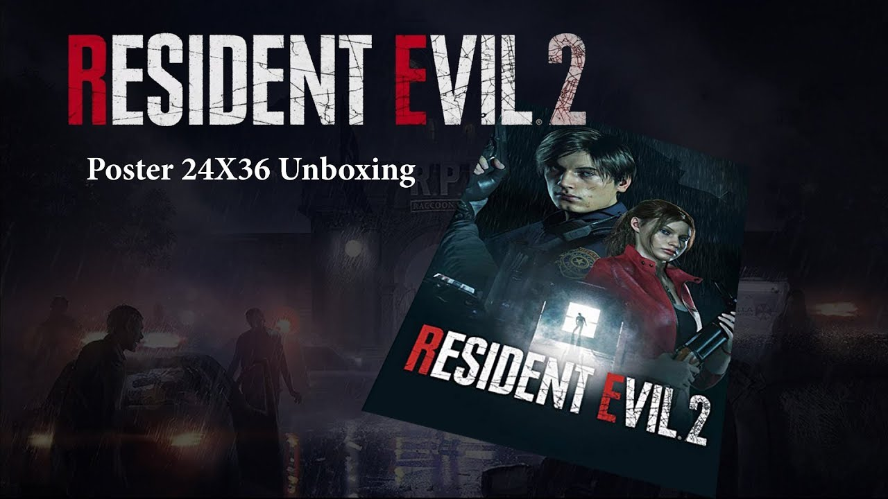 Resident Evil 2 Remake Poster 24x36 Unboxing Youtube