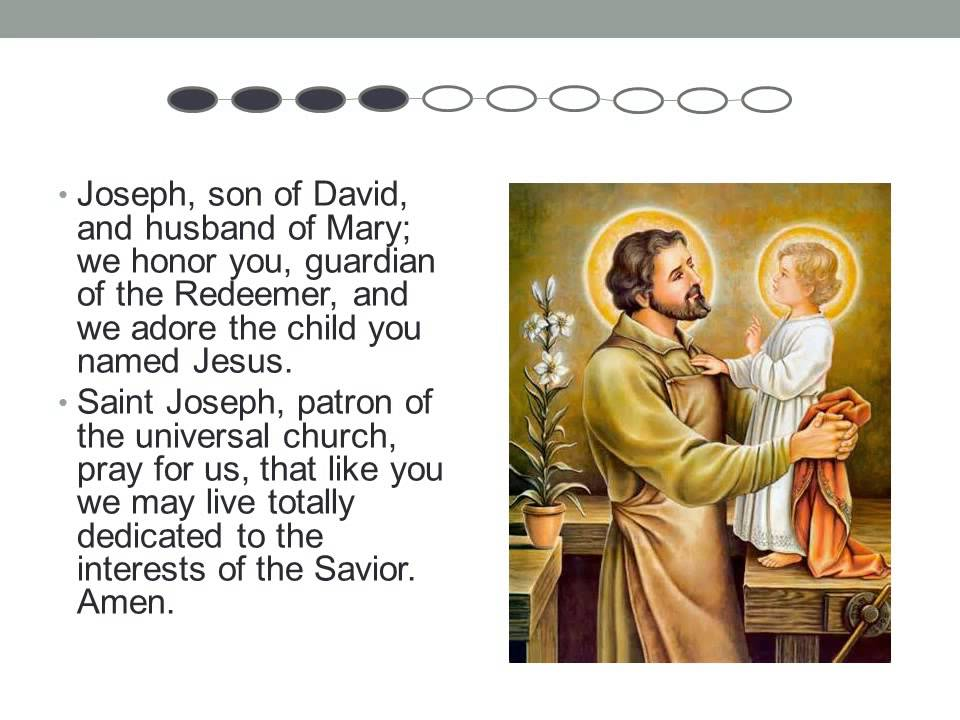 photo about Printable Prayer to St. Joseph identified as St. Joseph Rosary