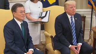 President Trump, Moon speak at White House