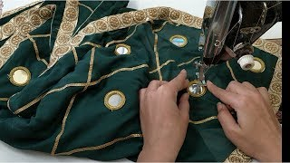 Very latest heavy dupatta making at home