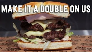 Make it a Double ON US for National Cheeseburger Day 9/18
