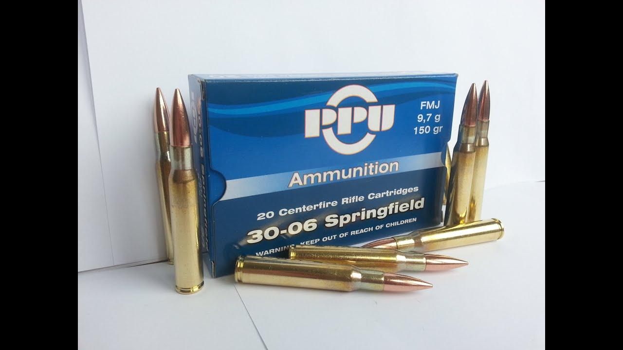 PPU Prvi Partizan 9,7g  30-06 Springfield FMJ Rifle Cartridges