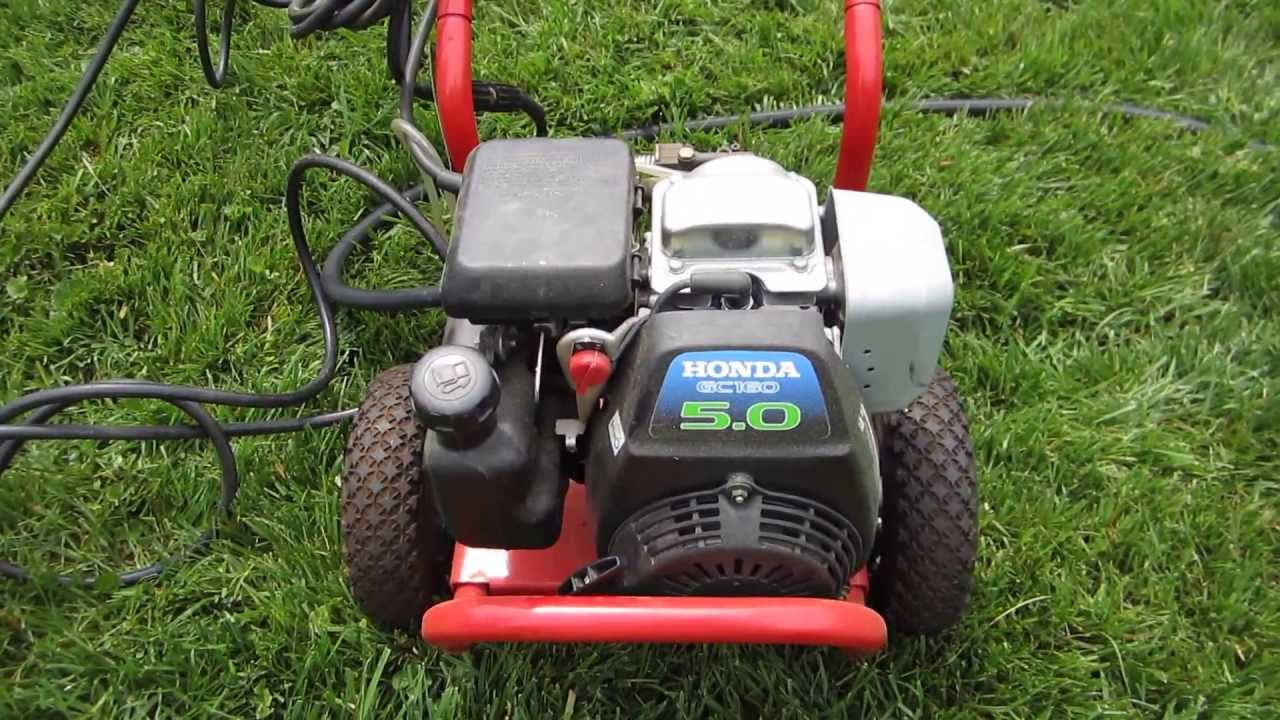 Troy Bilt Power Washer Honda GCV160 5.0HP Engine   Cold Start Craigslist  Find Part I   May 18, 2013   YouTube