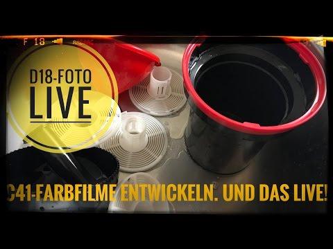 D18-Foto Live: C41-Filmentwicklung (Farbfilm) vor laufender Kamera