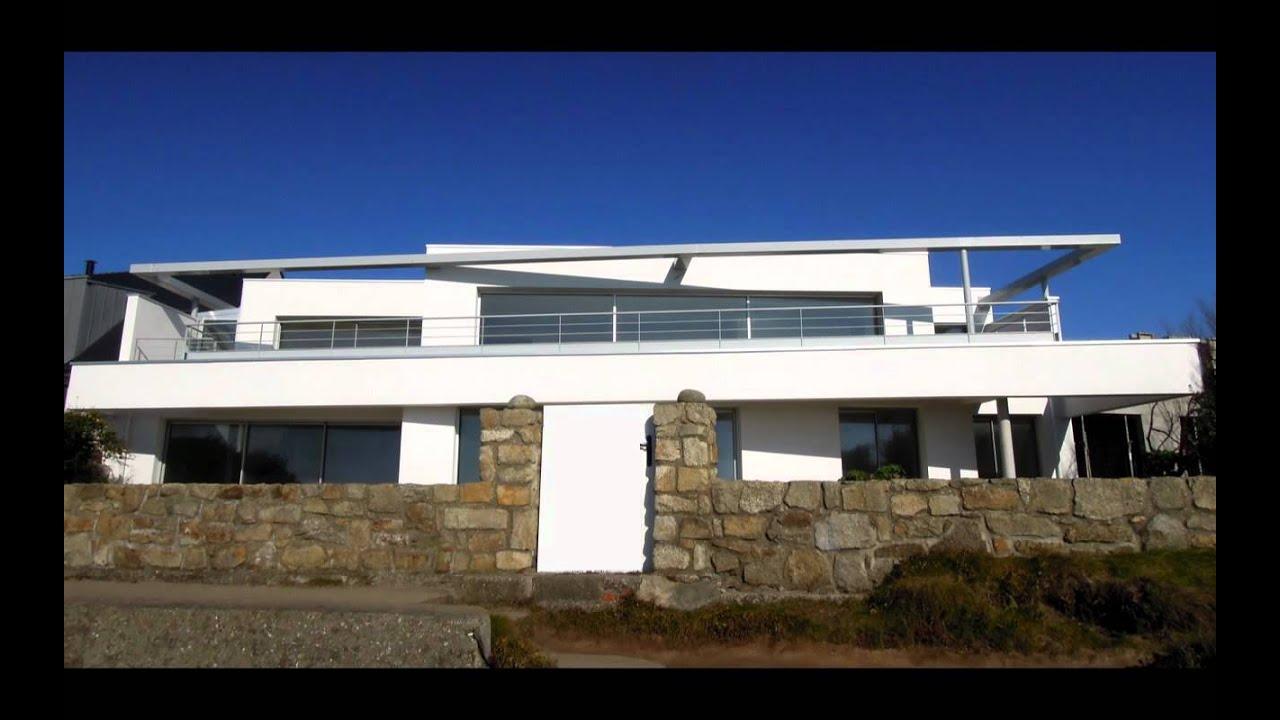 villa contemporaine en bord de mer ploemeur christophe. Black Bedroom Furniture Sets. Home Design Ideas