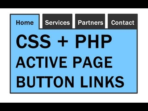 Active Page Link Button Highlight Tutorial