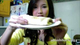 Vegetarian Bean And Cheese Burrito/ Food Ideas And Health Tips