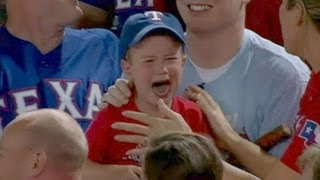 Repeat youtube video Crying Rangers Fan Loses Foul Ball to Adults | Good Morning America | ABC News