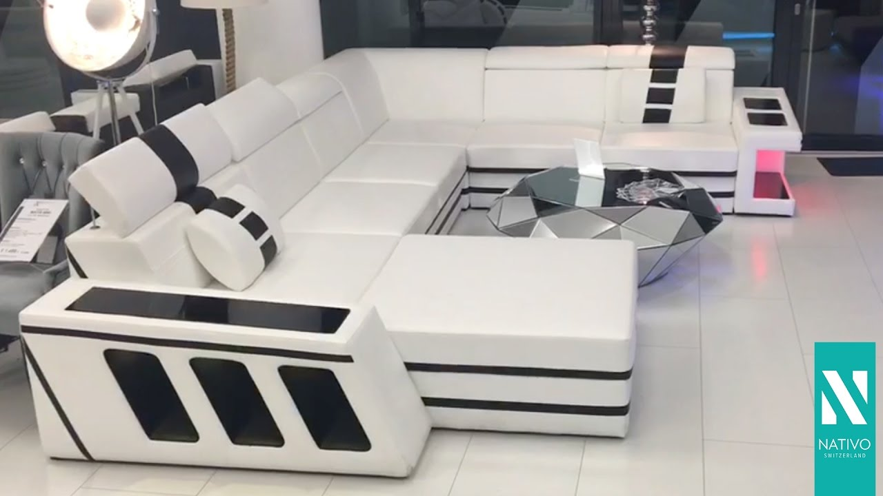 Nativo Möbel Schweiz - Designer Sofa CAREZZA XXL mit LED Beleuchtung ...
