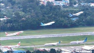 Take Off Sentani Lion Air,Trigana Air,Deraya Air,NAM Air,Wings Air, Garuda, Jayawijaya Dirgantara