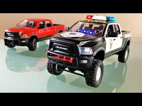bruder dodge ram police bruder rc pickup truck youtube. Black Bedroom Furniture Sets. Home Design Ideas
