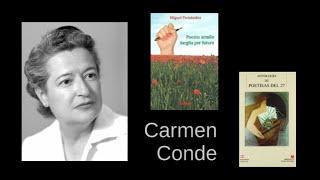 Carmen Conde – Ha terminado la guerra / Finiĝis la milito – legas Miguel Fernández