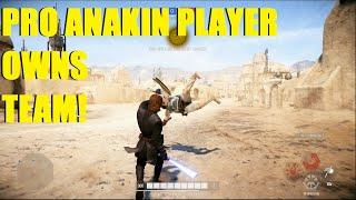 Star Wars Battlefront 2 - THE BEST BF2 PLAYER EVER! PRO ANAKIN PLAYER OWNAGE! (HvsV)