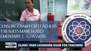 24,000+ pass licensure exam for teachers