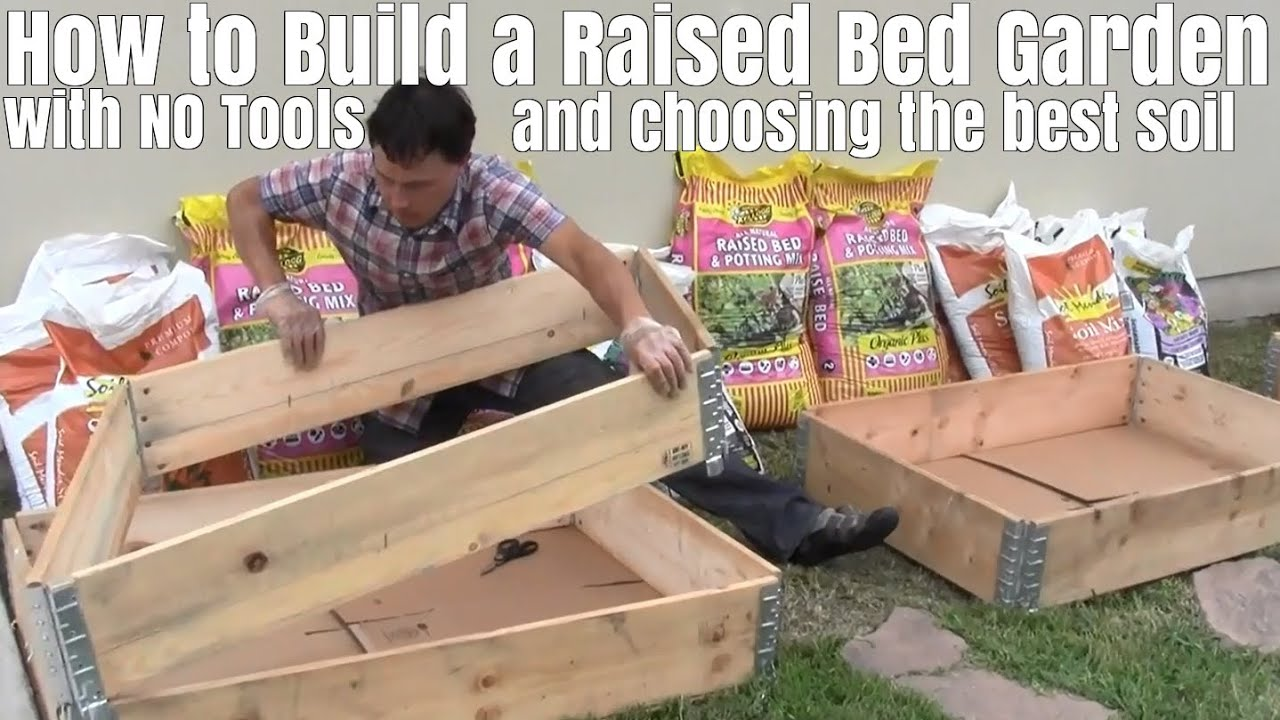 how to build raised garden. How To Build A Raised Bed Garden With No Tools \u0026 Choose The Best Soil E
