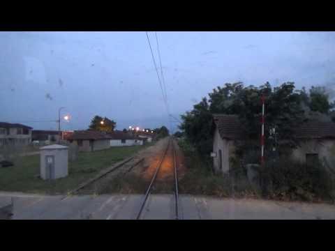 Train Driver's view: railroad in Serbia from Cuprija to Paracin   1/2 - SERBIAN RAILWAYS