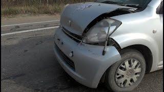 Хабаровская автолюбительница не заметила грузовик и врезалась в него.MestoproTV
