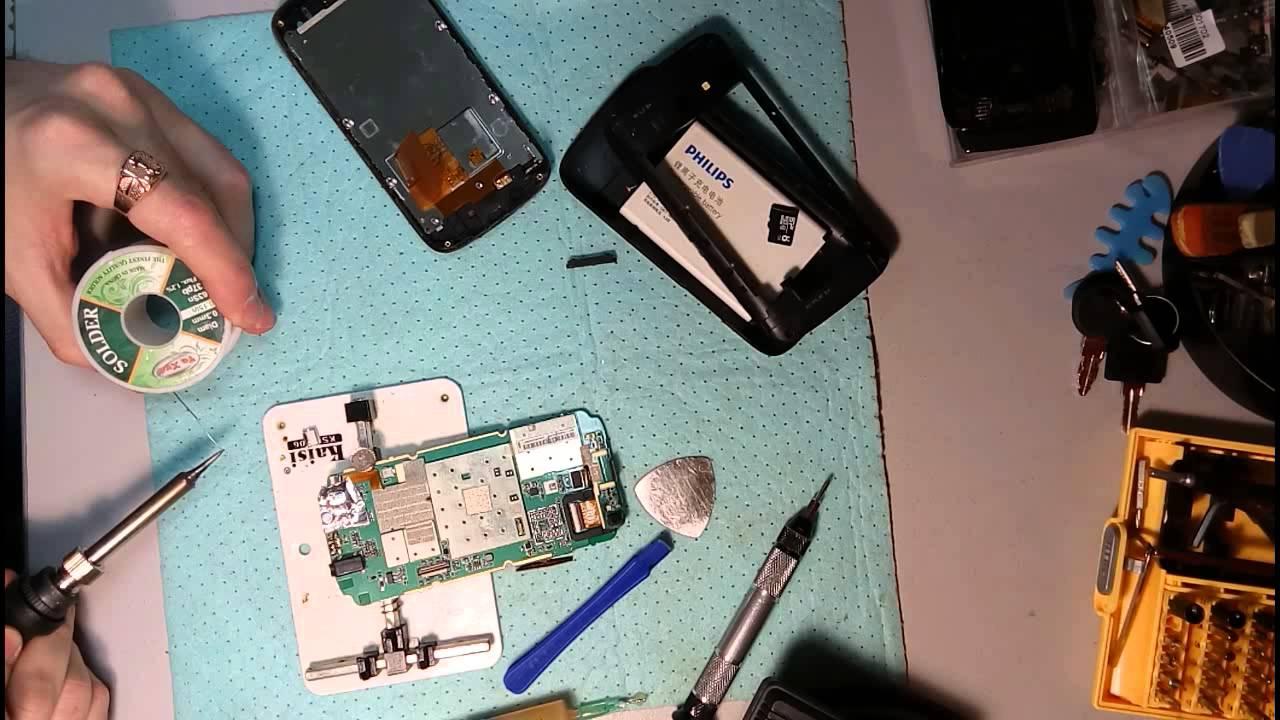 Тупит тачскрин Philips Xenium W336 - YouTube