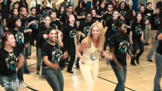 Beyonce surprises students at PS/MS 161 Don Pedro Albizu Campus, to...