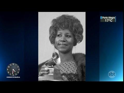 Fãs, amigos e familiares se despedem de Aretha Franklin | SBT Notícias (01/09/18)