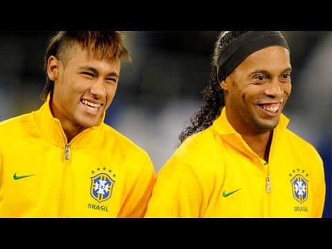 Ronaldinho \u0026 Neymar Jr Show For Brazil 12/10/2011