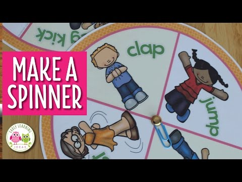 How to Make a Game Spinner with a Brad and Paperclip