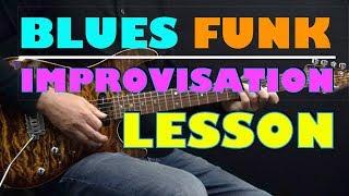 Blues Funk (Am) - Improvisation - Achim Kohl - Blues Guitar (tabs available)