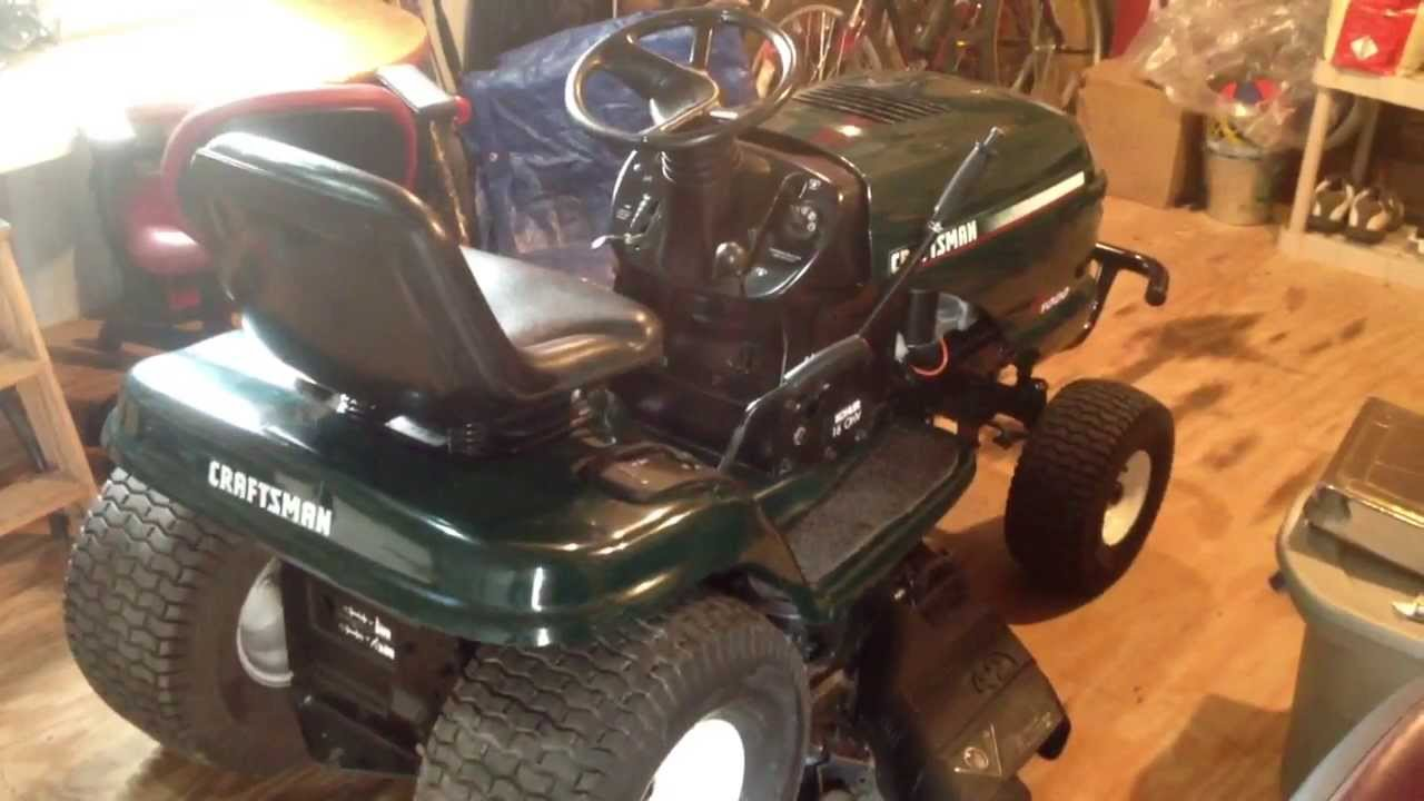 DIY Craigslist Find Mower Repair Craftsman LT1000 Lawn ...