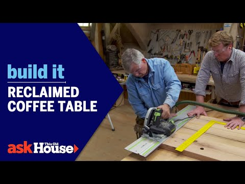 build it | reclaimed coffee table - youtube